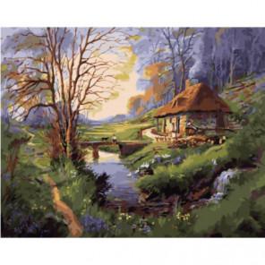 Одинокая избушка Раскраска картина по номерам на холсте