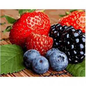 Свежие ягоды Раскраска картина по номерам на холсте