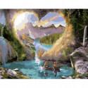 Романтичные скалы Раскраска картина по номерам на холсте