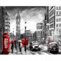 Дождливый Лондон Раскраска картина по номерам на холсте