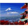 Вершины гор над облаками Раскраска картина по номерам на холсте
