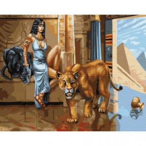 Клеопатра Раскраска картина по номерам на холсте
