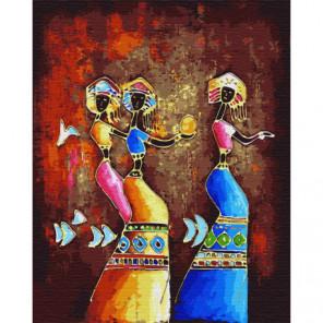 Африканские танцы Раскраска картина по номерам на холсте
