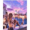Девушка у канала в Венеции Раскраска картина по номерам на холсте