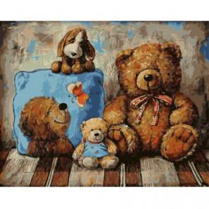 Ждущие медведи Раскраска картина по номерам на холсте