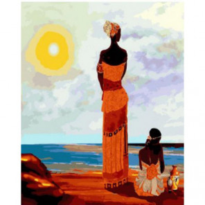 Африкансий мотив Раскраска картина по номерам на холсте