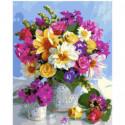 Цветочная ваза Раскраска картина по номерам на холсте