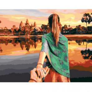 Следуй за мной. Камбоджа Раскраска картина по номерам на холсте