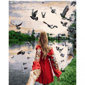 Следуй за мной. Новодевичий монастырский парк Раскраска картина по номерам на холсте