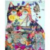 Кот декор Раскраска картина по номерам на холсте