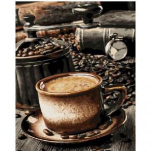Кофе в зернах Раскраска картина по номерам на холсте