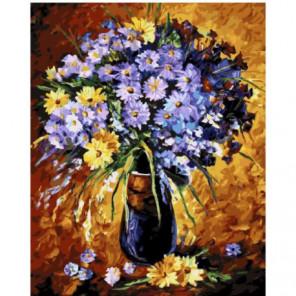 Очарование цветов Раскраска картина по номерам на холсте