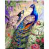 Красавец павлин Раскраска картина по номерам на холсте