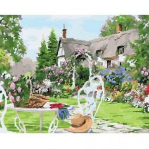 Любимый сад Раскраска картина по номерам на холсте