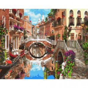 Мосты Венеции Раскраска картина по номерам на холсте