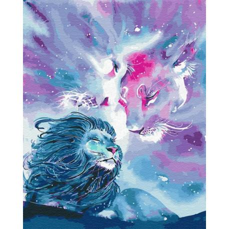 Львиный космос Раскраска картина по номерам на холсте ZX ...
