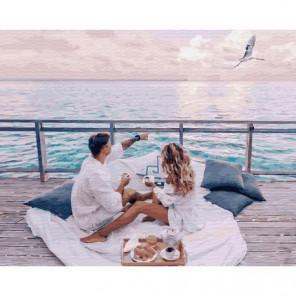 Завтрак у моря Раскраска картина по номерам на холсте