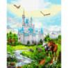 Замок в сказке Раскраска картина по номерам на холсте