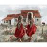 Две босоногие девочки Раint Воу Раскраска картина по номерам на холсте