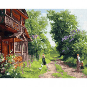 Русский дом Раскраска картина по номерам на холсте
