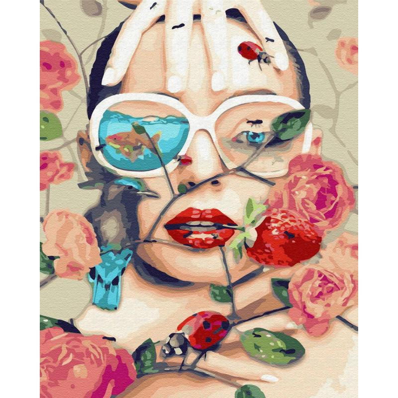 Сумбур с цветами Раскраска картина по номерам на холсте ZX ...