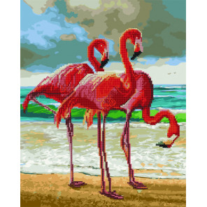 Грация фламинго Алмазная картина-раскраска по номерам на подрамнике GZS1105