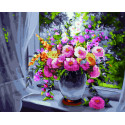 Свежесть весеннего букета Алмазная картина-раскраска по номерам на подрамнике GZS1103
