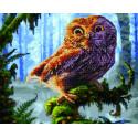 Сова Алмазная картина-раскраска по номерам на подрамнике GZS1097