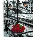 Розы под дождем Алмазная картина-раскраска по номерам на подрамнике GZS1090