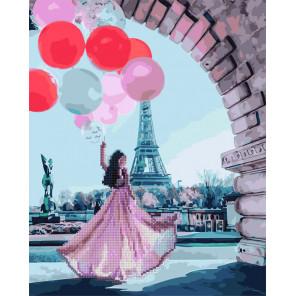 Париж желаний Алмазная картина-раскраска по номерам на подрамнике GZS1087