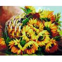 Цветы солнца Алмазная картина-раскраска по номерам на подрамнике GZS1080