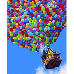 Воздушный шар Алмазная картина-раскраска по номерам на подрамнике GZS1040