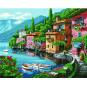 Тихая гавань Алмазная картина-раскраска по номерам на подрамнике GZS1035