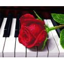 Благодарность музыканту Алмазная картина-раскраска по номерам на подрамнике GZS1018