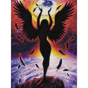 Темный ангел Алмазная вышивка мозаика АЖ-1799