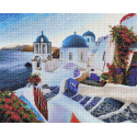 Вечер на Санторини Алмазная вышивка мозаика АЖ-1803