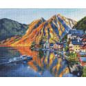 Закат в Альпах Алмазная вышивка мозаика АЖ-1806