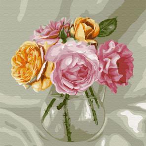 Бузин. Букет из роз Раскраска картина по номерам на холсте KH0425