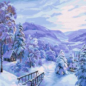 Снежная сказка Раскраска картина по номерам на холсте KH0438