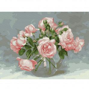 Бузин. Розовая симфония Картина по номерам на холсте с цветной схемой KK0062