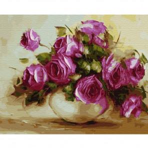 Осенние розы Раскраска картина по номерам на холсте KH0398
