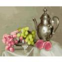 Бузин. Натюрморт с виноградом Раскраска картина по номерам на холсте KH0409