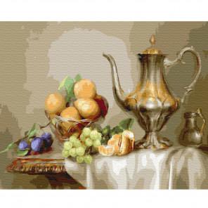Бузин Натюрморт с фруктами Раскраска картина по номерам на холсте KH0410
