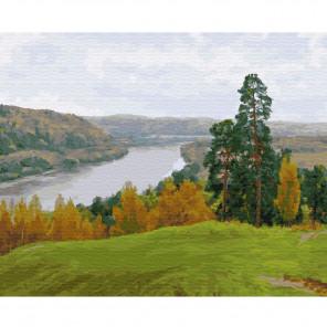 Осень на Оке Раскраска картина по номерам на холсте KH0411
