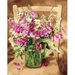 Изящество цветов Раскраска картина по номерам на холсте CG466