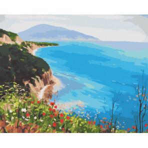 Океанские просторы Раскраска картина по номерам на холсте CG473