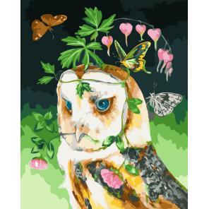 Мечты совы Раскраска картина по номерам на холсте CG478