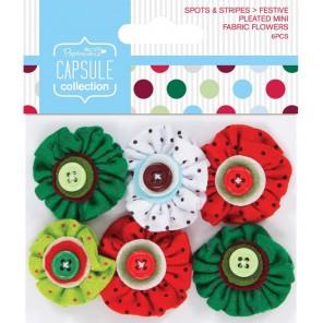 Spots & Stripes Festive Цветы для скрапбукинга, кардмейкинга Docrafts