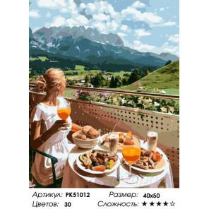 Сложность и количество цветов Аппетитный обед на природе Раскраска картина по номерам на холсте PK51012