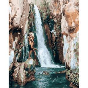 Вдвоем у водопада Раскраска картина по номерам на холсте PK51064